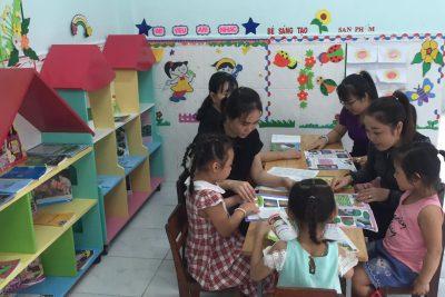 Trường Mẫu giáo Tân Thuận hưởng ứng Ngày Sách Việt Nam lần thứ 8